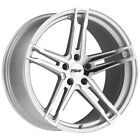 Staggered TSW Mechanica F: 18x8, R: 18x9.5 5x114.3 Silver/Mirror Wheels Rims