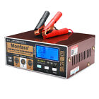 1224v 4-200ah Lcd Auto Pulse Repair Battery Charger For Car Motorcycle Agm