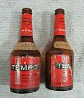 Two Rare Vintage 1950's Blatz Tempo Beer Amber Brown Bottles w Labels FREE S/H