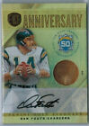 2011 PANINI GOLD STANDARD DAN FOUTS 14K GOLD RELIC AUTOGRAPH CARD 6 CHARGERS