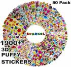 Stickers for Kids 80 different Sheets 3D Puffy Bulk Kids Stickers for Girl