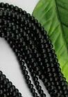 FREE SHIP 30Pcs black Glass round Loose Spacer Beads 8MM JK0452