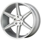 4 KMC KM711 Prism 22x105 5x1143 5x45 +40mm Brushed Silver Wheels Rims