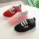 Baby Boy Girl Anti Slip Shoes Casual Canvas Sneakers Soft Sole First Walkers US