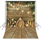 Rustic Wood Backdrop Woodcarving Jesus Nativity Scene Christmas Photo Backdrop