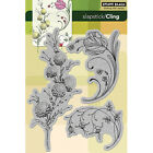 Penny Black Cling Stamps Delicate Florals PB40103