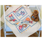 Dimensions Baby Hugs Quilt Stamped Cross Stitch Kit 34X43 Little Sports 73255
