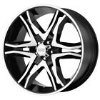 4 AR893 Mainline 18x85 6x55 +30mm Black Machined Wheels Rims 18 Inch