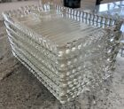Vintage Clear Glass Luncheon / Snack plate set of 5 Hazel-Atlas