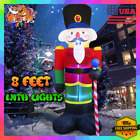 Xmas Inflatable LED Snow Globe with Merry Christmas Sign Outdoor Yard Decoration