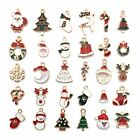 30Pcs Set Mixed Christmas Charms Pendant Jewelry For Earrings DIY Craft Making