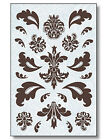 New Paisley Damask Toile Designs Self Adhesive Wallies Deco Decal Stickers Wall