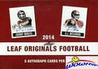 2014 Leaf Football Originals Factory Sealed HOBBY Box-5 ON-CARD AUTOGRAPH!