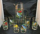 Original West Virginia Glass American Songbird Pitcher  Glass 7 Pc Set