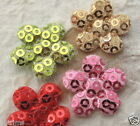 60 pcs x 7 8 Padded Sequined Felt Flower Appliques for Christmas Crafts ST256A