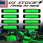 8X Green LED Rock Lights For Offroad Jeep Truck ATV UTV Underbody Lighting Kit
