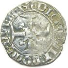 1421 1422 AD Medieval Anglo Gallic Billion Silver Niquet of King Henry V