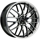 4 Drifz 302MB Vortex 17x75 4x100 4x45 +42 Black Machined Wheels Rims 17 Inch