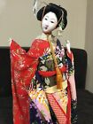 Vintage Hand Crafted and Sewn Authentic Japanese Geisha Doll Original Glass Case