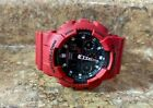 Casio G-Shock GA-100B Unisex Red Resin Band Wrist Watch PreOwned NO RESERVE