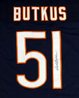 CHICAGO BEARS DICK BUTKUS AUTHENTIC AUTOGRAPHED SIGNED BLUE JERSEY PSA DNA 93710