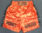 FLOYD MAYWEATHER JR. AUTOGRAPHED SIGNED RED BOXING TRUNKS BECKETT 121803