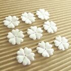 150 pc x 5 8 Padded Shiny White Felt Flower Appliques for Wedding Cards ST265W