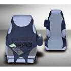 For Jeep Wrangler Cj Yj Tj Front Seat Covers Pair Blk Gray X 1323519