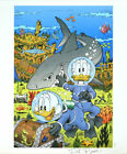 DON ROSA LITHOGRAFIE LITHOGRAPH TREASURE UNDER GLASS SIGNED SIGNIERT