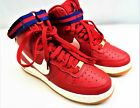 Nike AIR FORCE 1 HI SNEAKER Red Youth Size 5 350