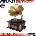 Bluetooth Phonograph Record Player Turntable Vintage Gramophone with Remote USA