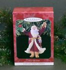 1998 Hallmark Ornament Merry Olde Santa #9 in Series Santa w/ Toys and Holly