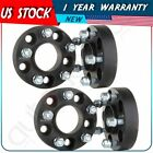 4Pc 5x45 125 Black Wheel Spacers For 2006 2010 Jeep Commander Grand Cherokee
