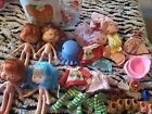 STRAWBERRY SHORTCAKE DOLL CLOTHES LOT OF 30+ ITEMS vintage TIN and Glass