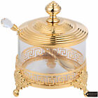 Matashi 24K Gold Plated Sugar Glass Bowl  Spoon Perfect Gift For mother Party