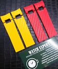 Red and Yellow Rubber Watch Strap 22mm FIT Ulysse Nardin Maxi Marine Diver