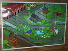 THOMAS THE TANK TRAIN VINYL 3' X 2' MAT FOR PLAY SODOR JUNCTION TIDMOUTH SHEDS
