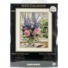 Dimensions Gold Collection Counted Cross Stitch Kit 12X15 Peonies Delphiniums