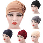 EP_ Women's Flowers Muslim Beanie Cap Snood Cancer Hat for Chemo Hair Loss Novel