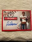 2019 Topps Brooklyn Collection Auto Red Rod Carew 5 Oddball Sp Twins