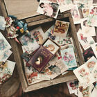 100Pcs Lot Vintage Paper Sticker Collection Of Books Retro Style Boxed Stickers
