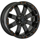 4 Panther OffRoad 678 20x9 6x135 6x55 12mm Gloss Black Wheels Rims 20 Inch