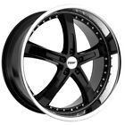 Staggered TSW Jarama Front 20x85 Rear 20x10 5x1143 Gloss Black Wheels Rims