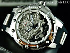 Invicta Men's 52mm Bolt SPEEDWAY DRAGON Automatic Silver Tone Stainless St Watch