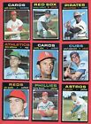 1971 Topps Baseball High Numbers = Mid Grade = 9 Diff Cards = Dick Williams
