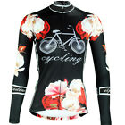 Ladies Long Sleeve Cycling Jersey Vintage Womens Cycle Jersey Tops Bike G