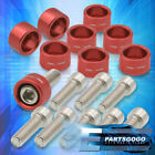 M8X1.25 Red Exhaust Manifold Dress Up Washer Bolts Replacement For Honda Acura