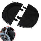 2x Black Soft Lowers Chaps Fairing Cover Engine Guard For Harley Softail FLSTC