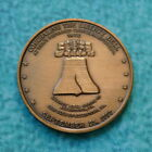 CONCEALING the LIBERTY BELL Bronze Medal 1972 VINTAGE Allentown Coin Club Zions