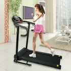 LCD Compact Folding Treadmill 1100W Home Jogging Running Machine with Pad Holder